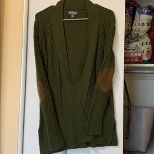 Open Cardigan with elbow patches